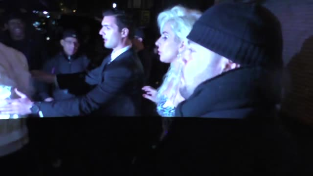 Lady Gaga outside the Boom Boom Room Nightclub in New York in Celebrity Sightings in New York