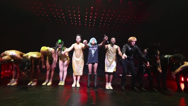 lady gaga performs onstage during siriusxm pandora present lady gaga at the apollo on june 24 2019 in new york city - lady gaga gifs stock videos & royalty-free footage