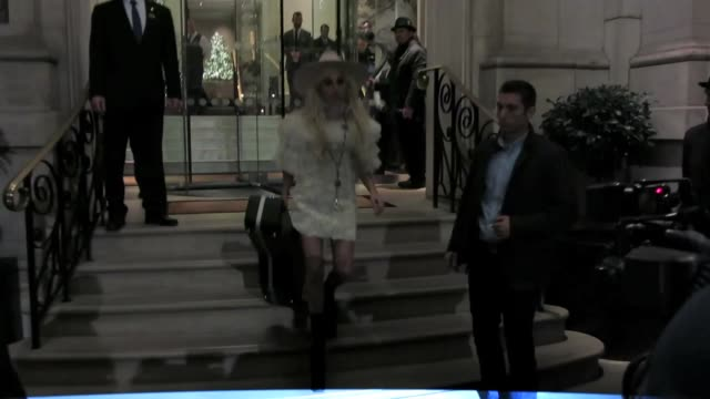 Lady Gaga seen leaving The Langham hotel on December 2 2016 in London England