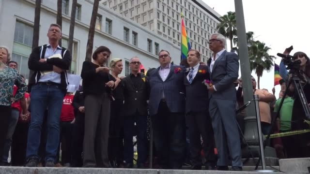 Lady Gaga surprised the hundreds of people who flocked to city Los Angeles to attend a vigil remembering the victims of the Orlando shoot where she...