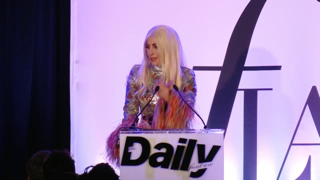 SPEECH Lady Gaga thanks The Daily and acknowledges other editors and how many incredible ones there are being extremely honored Said she would never...