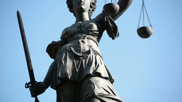 lady justice motion controlled tilt up - equal arm balance stock videos and b-roll footage