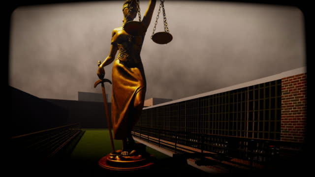 lady justice standing at prison yard - lady justice stock videos and b-roll footage