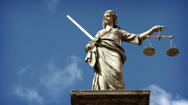 lady justice statue - equal arm balance stock videos and b-roll footage