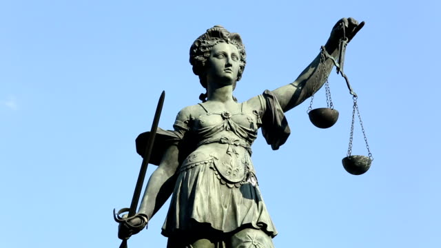 lady justice - equal arm balance stock videos and b-roll footage
