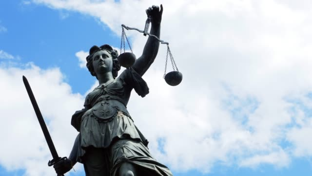 lady justice with scales and sword - justice concept stock videos & royalty-free footage
