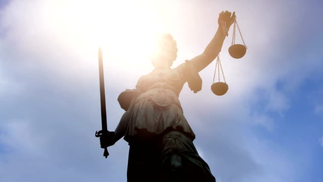 lady justice with sun - law stock videos & royalty-free footage