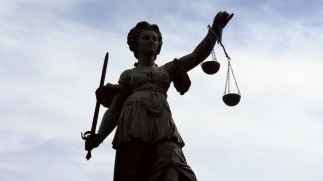 レディ・ジャスティティア、リアルタイム - 正義の天秤点の映像素材/bロール