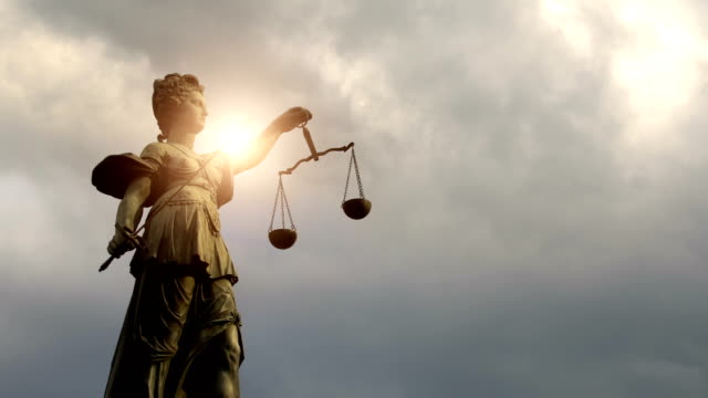 lady justitia with sun, time lapse - justice concept stock videos & royalty-free footage