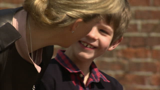 lady louise windsor sophie countess of wessex and james viscount severn joined prince edward earl of wessex on a trip to the wild place project at... - lady louise windsor stock videos and b-roll footage