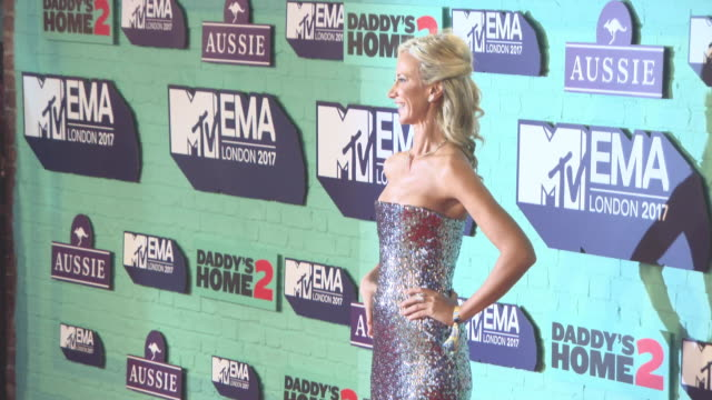 lady victoria hervey at mtv ema awards at the sse arena wembley on november 12 2017 in london england - wembley arena stock videos & royalty-free footage