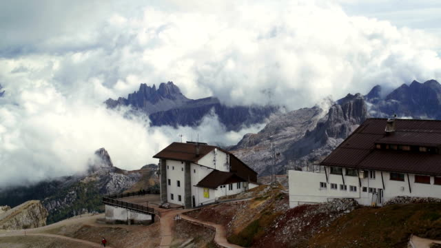 Lagazuoi with Rifugio and Cable Car Station PAN