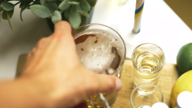 lager beer at a swedish midsummer dinner party - lager stock videos & royalty-free footage