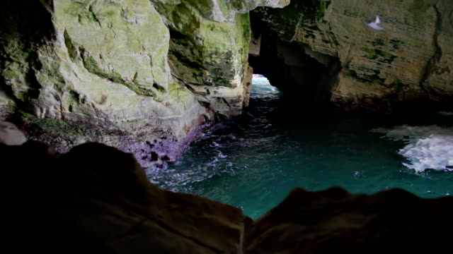 lagoon in grotto - grotto cave stock videos and b-roll footage