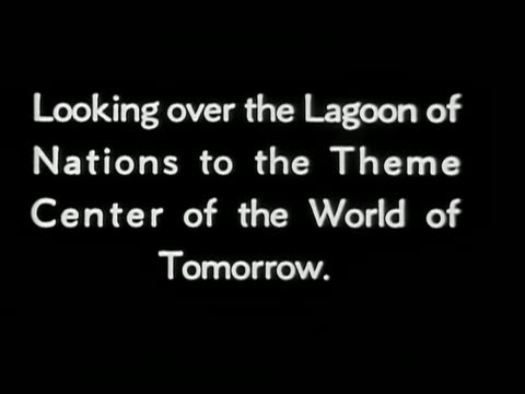 lagoon of nations theme center of the world of tomorrow at new york world's fair - esposizione universale di new york video stock e b–roll