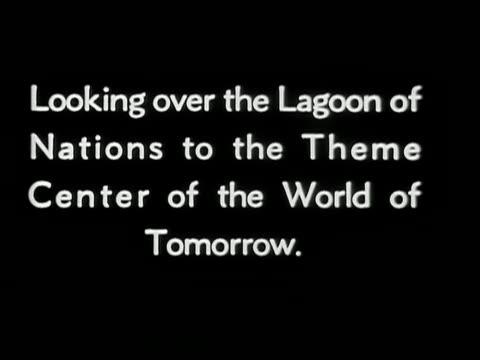 vídeos y material grabado en eventos de stock de lagoon of nations theme center of the world of tomorrow at new york world's fair - feria mundial de nueva york