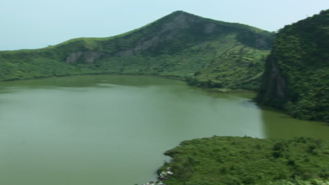 WS PAN Lagoon surrounded by mountains, Refugee Camp, Goma, Congo