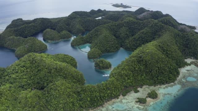 vídeos y material grabado en eventos de stock de lagoons in siargao isand philippines - drone 4k video - idyllic