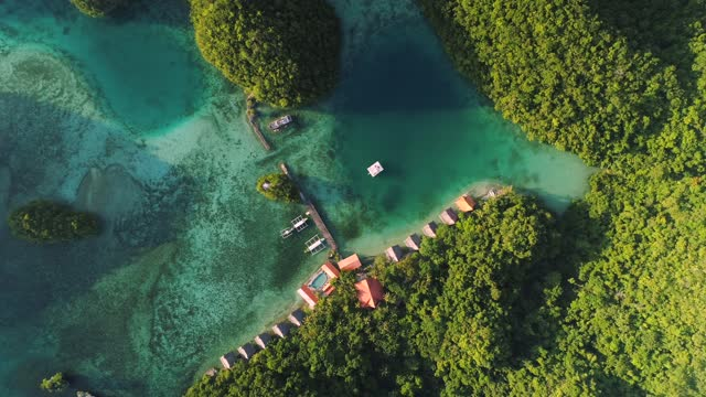 lagoons in siargao isand philippines - drone 4k video - turistort bildbanksvideor och videomaterial från bakom kulisserna