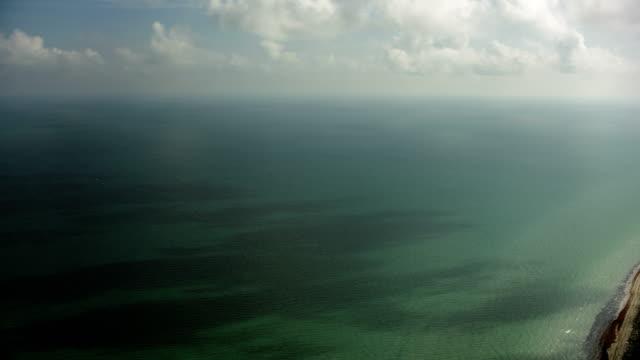 lagoons on yucatan coast in mexico - golfo del messico video stock e b–roll