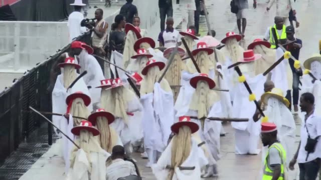 Lagos plays hosts to thousands of tourists and locals as the city celebrates the EYO festival