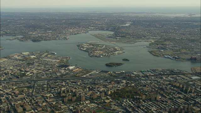 laguardia airport and rikers island - flushing queens stock videos and b-roll footage