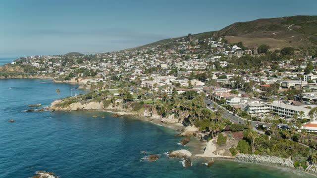 laguna beach, california - drone shot - laguna beach california stock videos & royalty-free footage