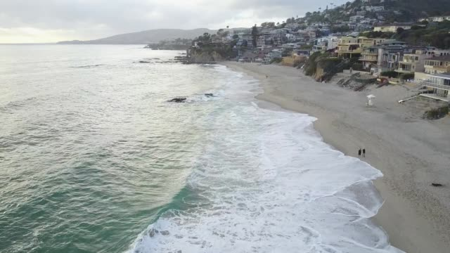 laguna beach coastline - laguna beach california stock videos & royalty-free footage