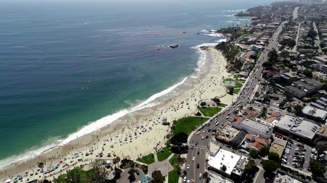 laguna beach flyover - laguna beach california stock videos & royalty-free footage