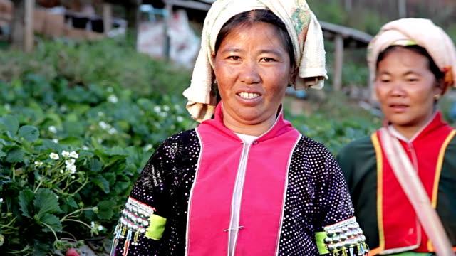丘に住む部族の女性 lahu ます。 - 民族衣装点の映像素材/bロール