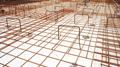 vídeos y material grabado en eventos de stock de malla de alambre concreto puesto ds - material de construcción