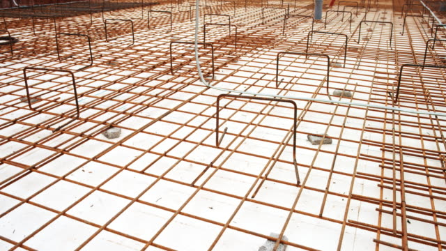 ds laid concrete wire mesh - construction material stock videos & royalty-free footage