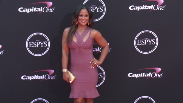 vídeos de stock, filmes e b-roll de laila ali at the 2017 espys in los angeles ca - espy awards