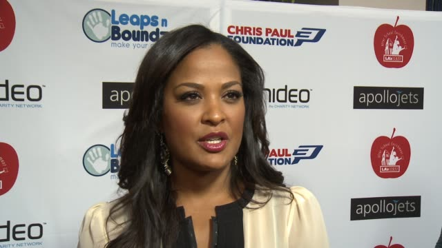 INTERVIEW Laila Ali on the event at The CP3 Foundation's Celebrity Server Dinner Hosted By Chris Paul in Los Angeles CA