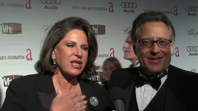 Lainie Kazan and Errol Rapaport on William Hurt on a wonderful evening and on Elton John's humanitarian work at the 14th Annual Elton John AIDS...