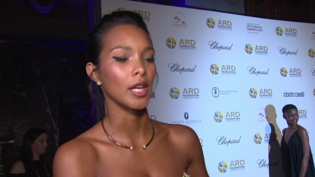 vídeos y material grabado en eventos de stock de interview – lais ribeiro on why it is important for her to be here supporting the cure for cancer at the alcides rosaura foundations' a brazilian... - the cure