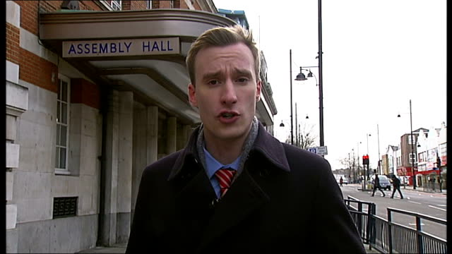 council construction manager gives evidence lambeth town hall reporter to camera - inquest stock videos & royalty-free footage