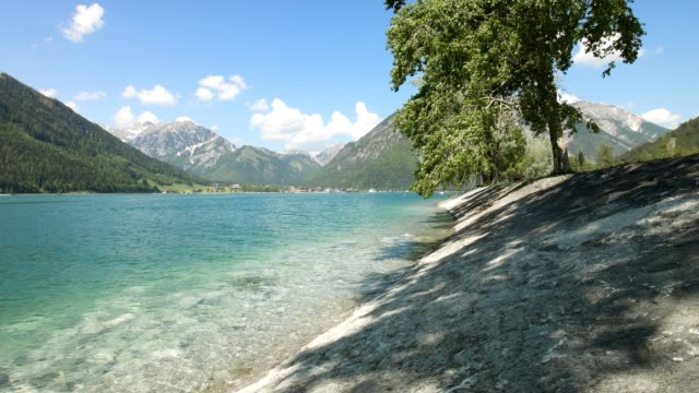 lake achensee, tirol, austria, in spring - lake stock videos & royalty-free footage
