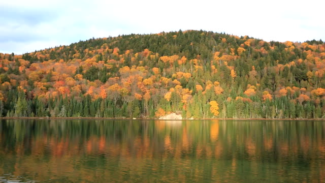 Lake and Mountain in Fall Season
