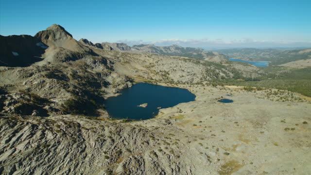 Lake And Peak In California Wilderness Area