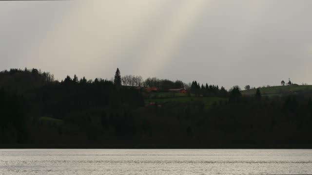 vidéos et rushes de lake and stormy sky - vincent pommeyrol