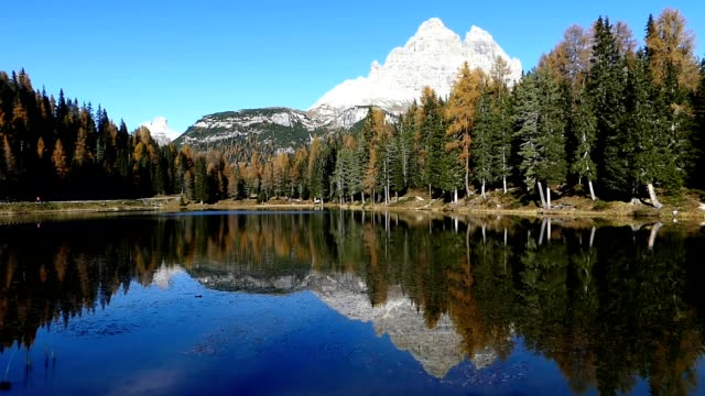 Lake Antorno in Dolomites Alps of Italy