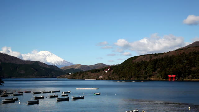 Lake ashi and Mt Fuji