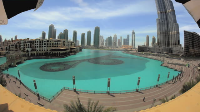 WS HA Lake at Burj Khalifa with skyline / Dubai, United Arab Emirates