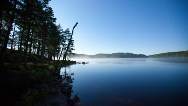 TIME LAPSE: Lake at night