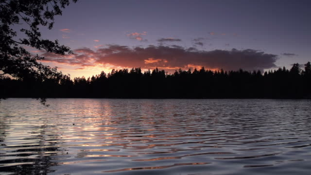 SLOW MOTION: Lake at Sunset