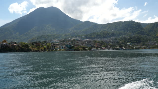 lake atitlan, view of the and the villages, guatemala. - guatemala stock videos & royalty-free footage