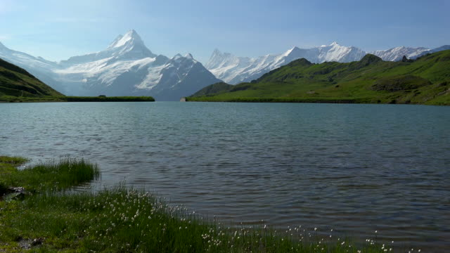 Lake Bachalpsee at First and Bernese Alps, Grindelwald, Bernese Alps, Switzerland