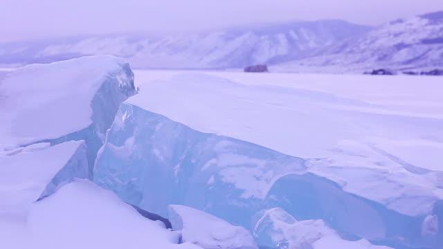 vidéos et rushes de lake baikal. - iceberg bloc de glace