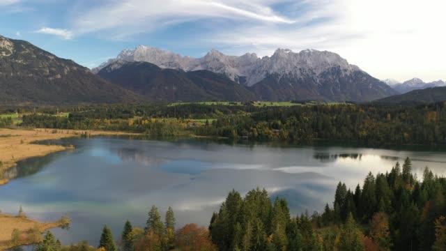 stockvideo's en b-roll-footage met lake barmsee, upper bavaria, germany, europe - beieren